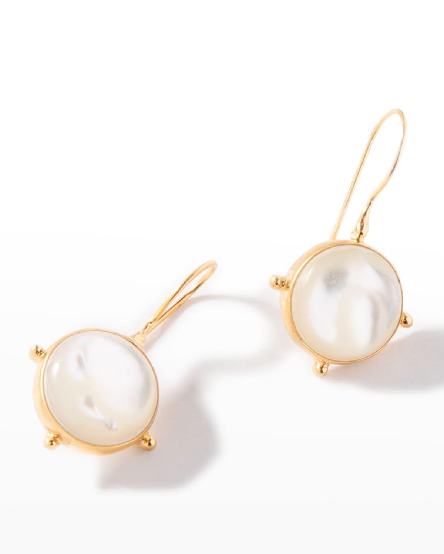 Mother-of-Pearl Pinwheel Drop Earrings