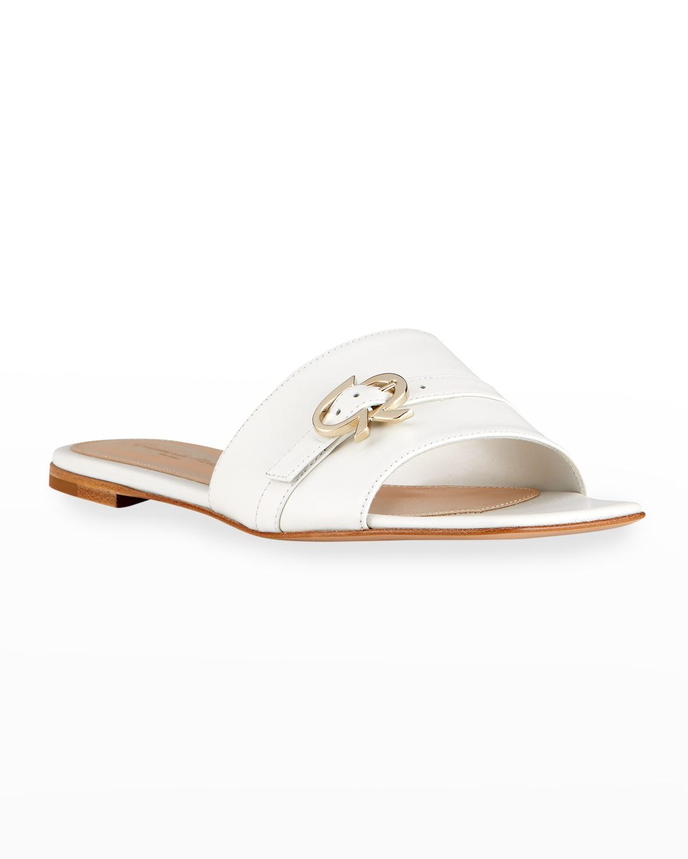 Medallion Strap Flat Slide Sandals