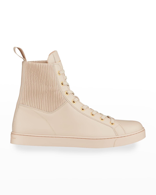 Calfskin High-Top Sneakers