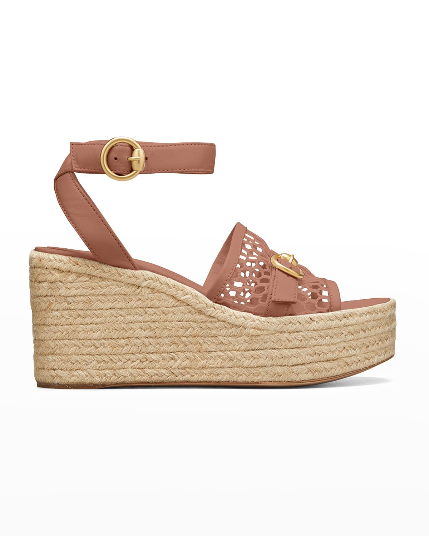 Buckle Napa Wedge Platform Sandals