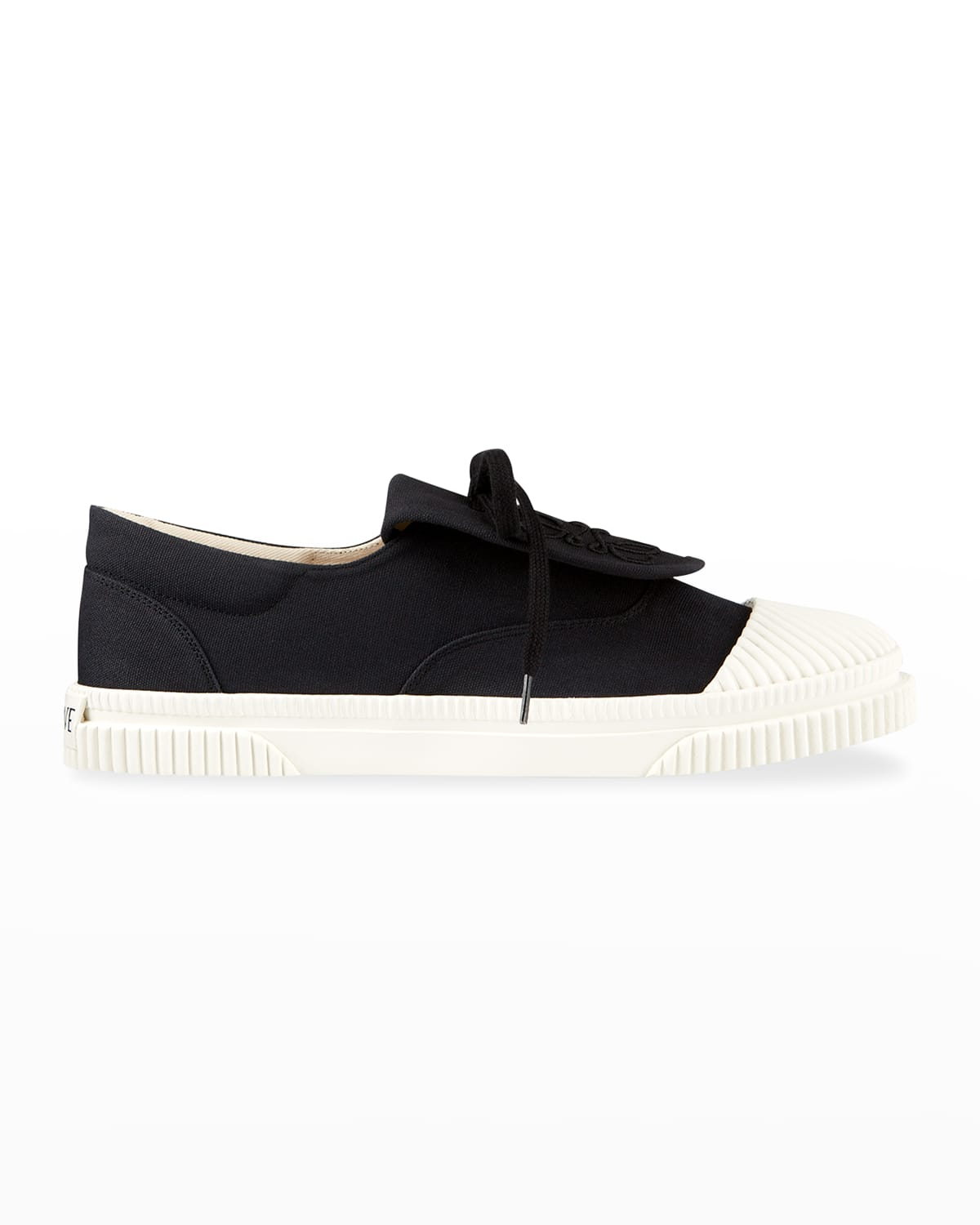 Anagram Embroidered Flap Low-Top Sneakers