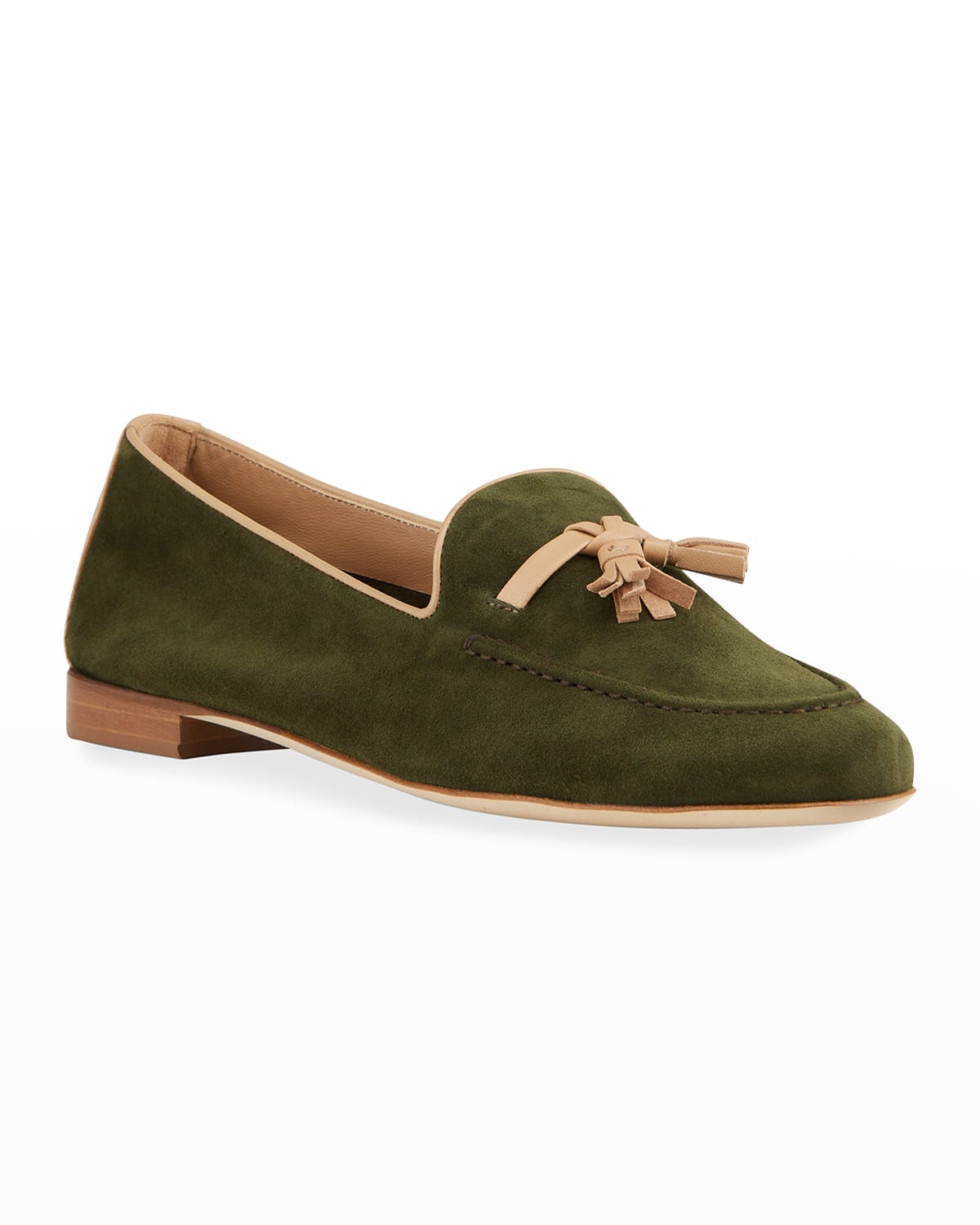 Alberto Suede Leather-Tassel Loafers