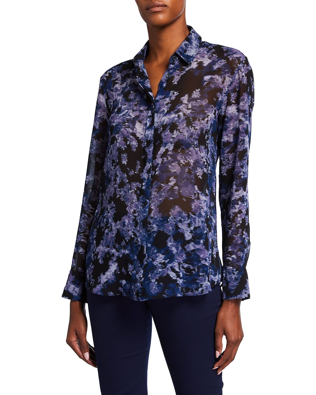 Abstract Printed Georgette Blouse