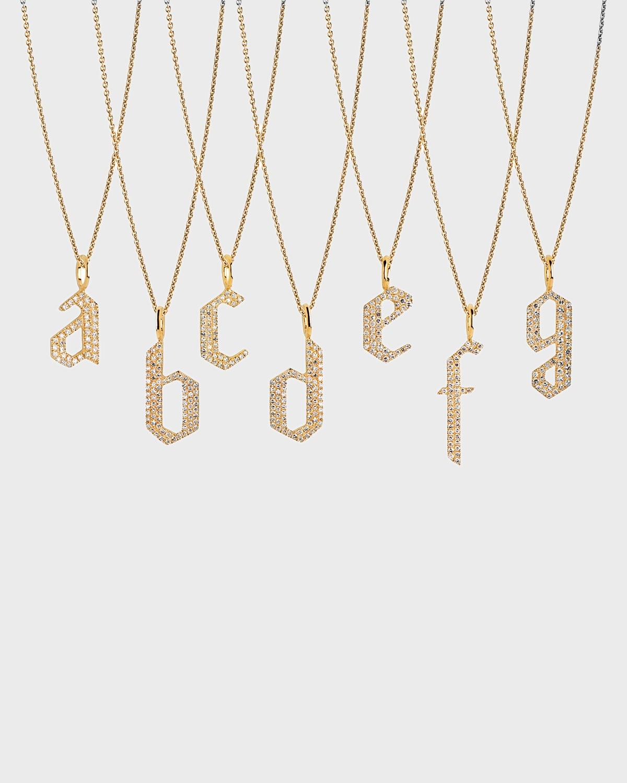 14k Diamond Alphabet Necklace