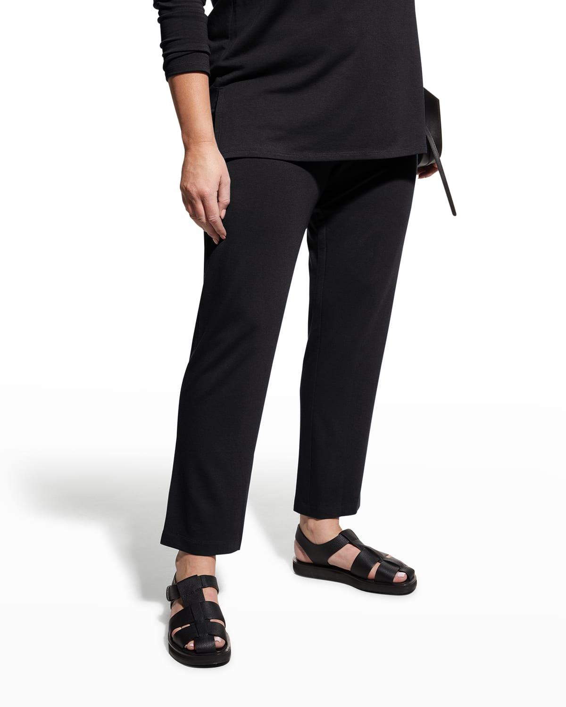 Plus Size French Terry Drawstring Straight-Leg Pants