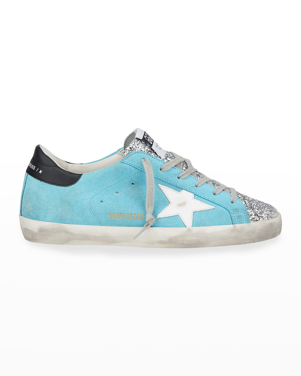 Superstar Mix Leather Glitter Sneakers