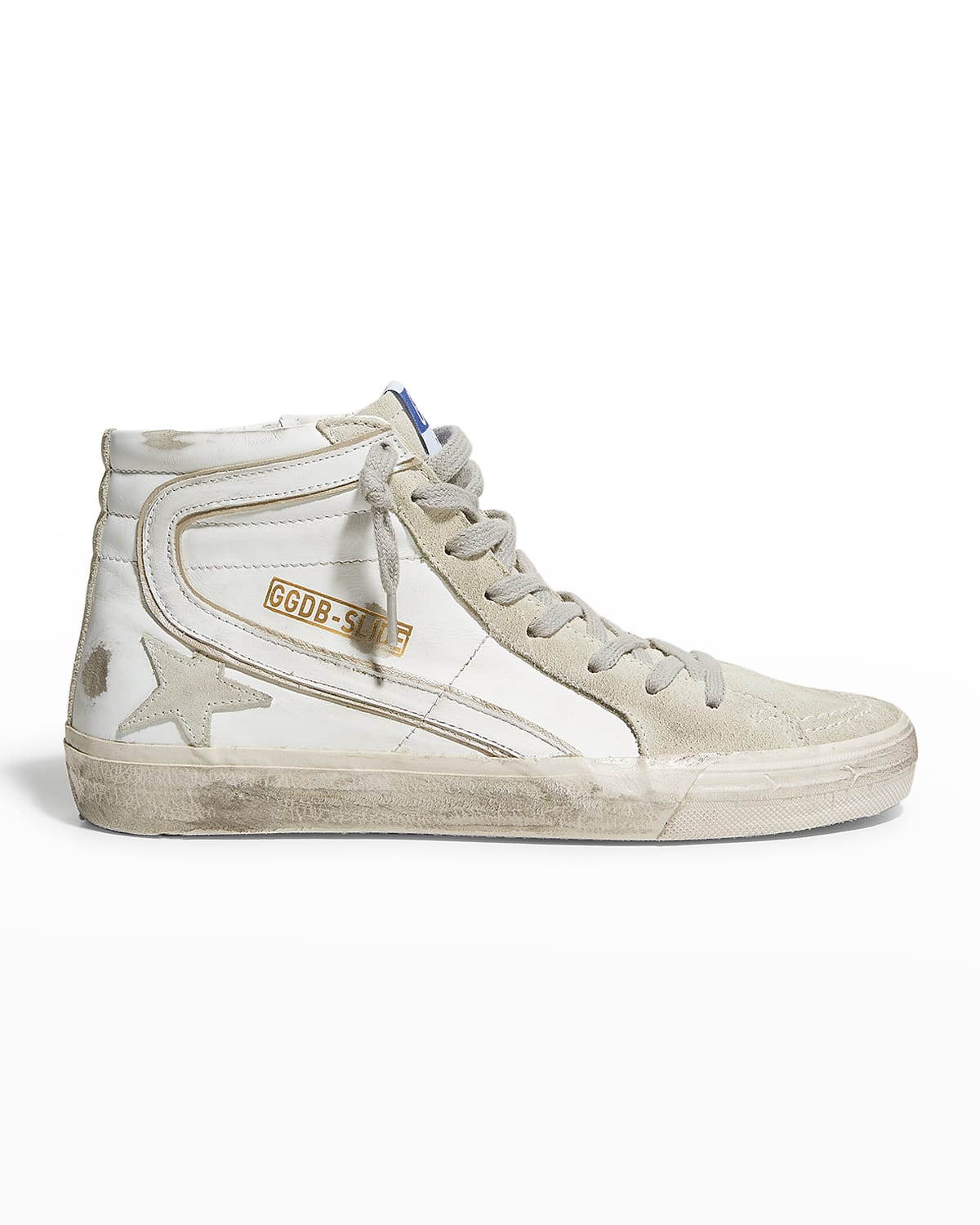 Mid-Top Mixed Leather Sneakers