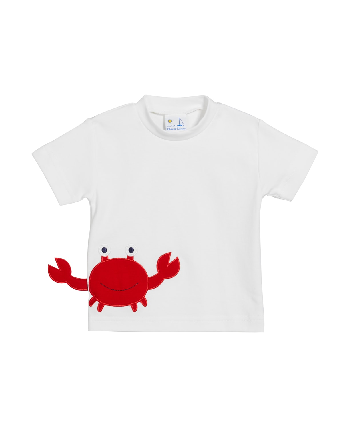 Boy's Embroidered Crab Short-Sleeve Shirt