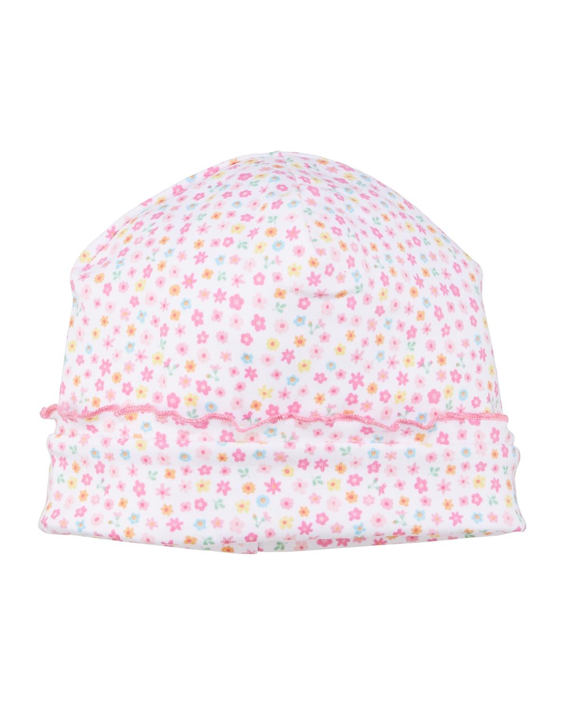 Girl's Unicorn Gardens Printed Baby Hat