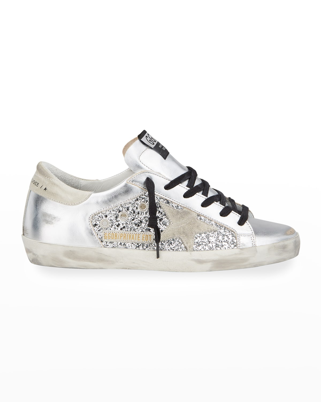 Metallic Glitter Low-Top Sneakers