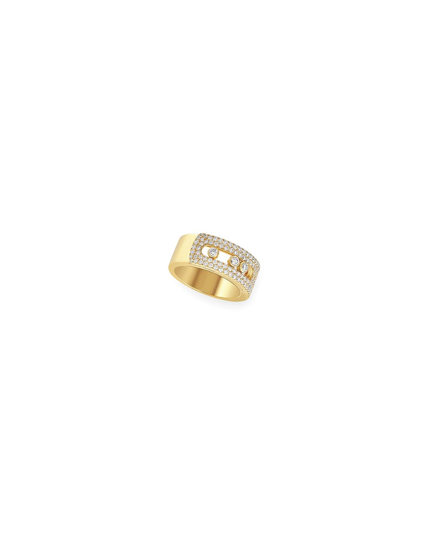 Move Noa 18k Yellow Gold Pave Diamond Large Ring