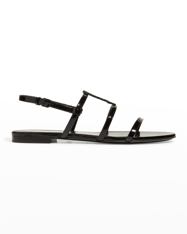 Cassandra Patent YSL Slingback Sandals