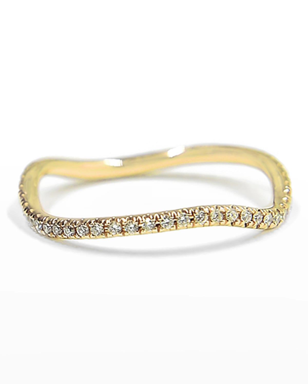 Wave 14k Gold Diamond Ring