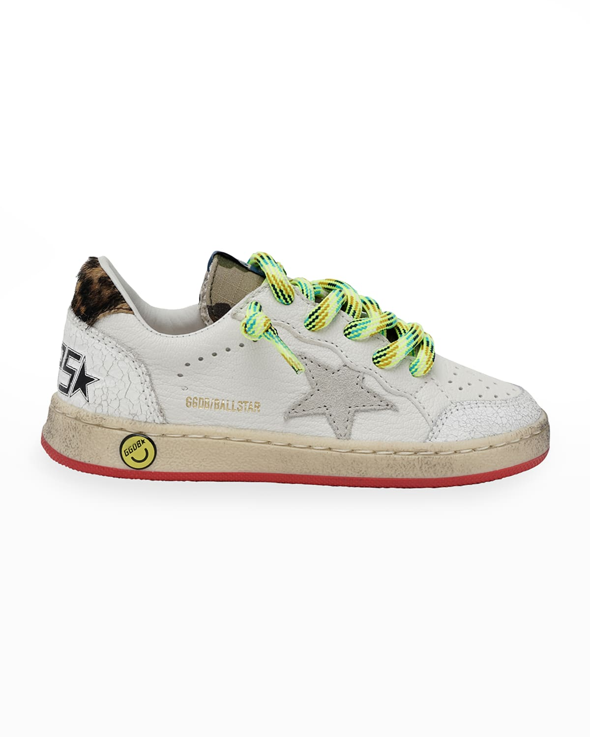 Ball Star Mix-Media Low-Top Sneakers