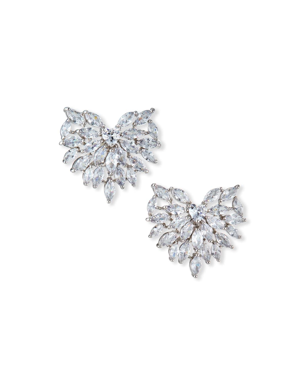 Radiant Heart Stud Earrings