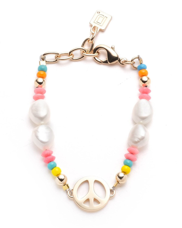 Garcia Bead and Pearl Peace Bracelet