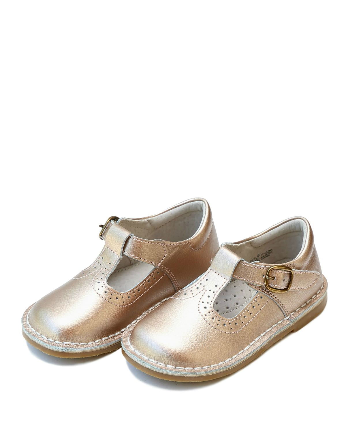 Girl's Frances Metallic T-Strap Mary Jane Shoes