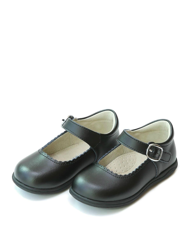 Chloe Scalloped Leather Mary Jane