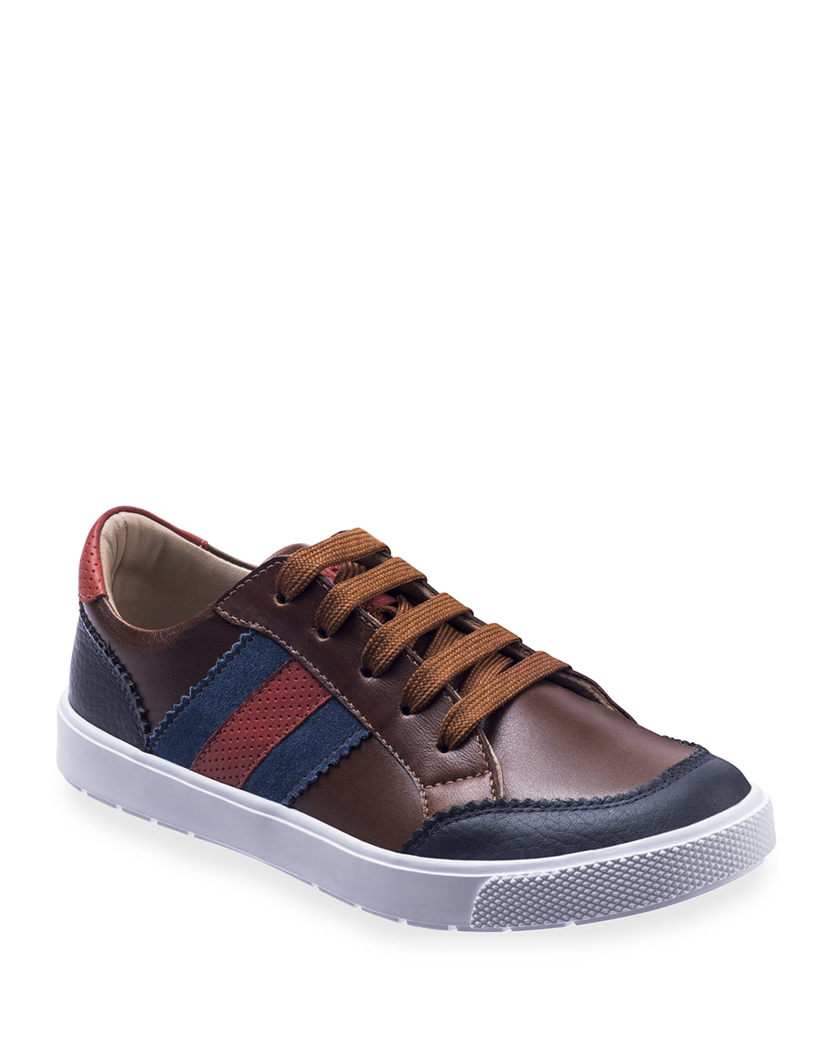 Boy's All American Colorblock Leather Sneakers