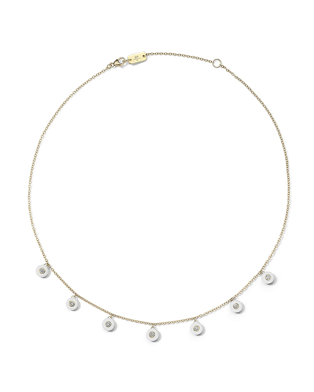 18K Carnevale Stardust Ceramic and Diamond Shaker Necklace