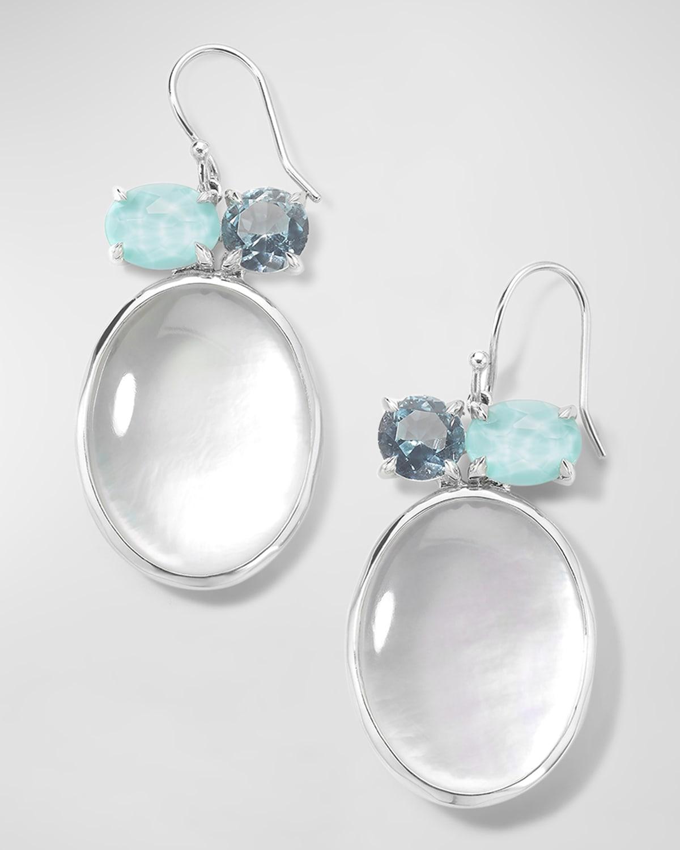 Rock Candy Luce 3-Stone Drop Earrings in Cascata