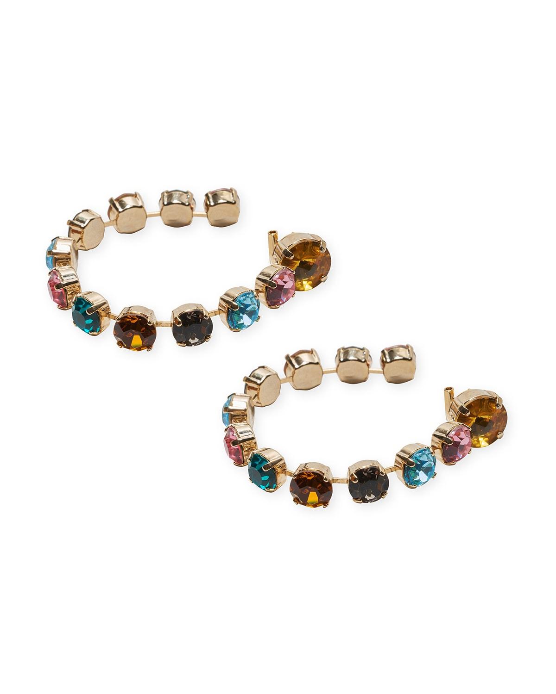 Strauss Crystal Hoop Earrings