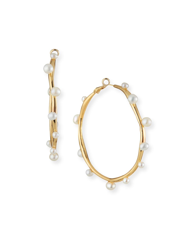 Isla Pearl Hoop Earrings