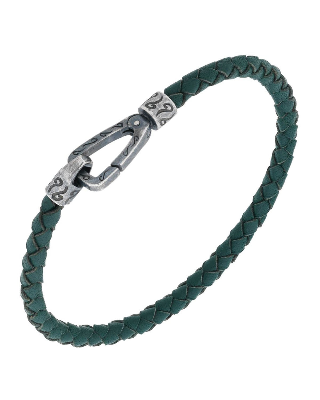 Men's Lash Thin Woven Leather Bracelet