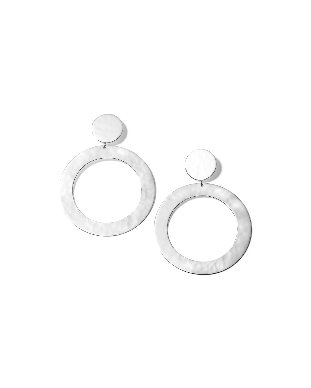 Classico Crinkle Open Circle Snowman Earrings