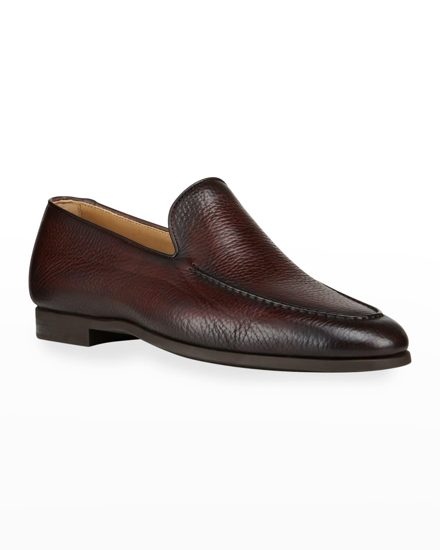 Men's Venetian Textured Leather Loafers