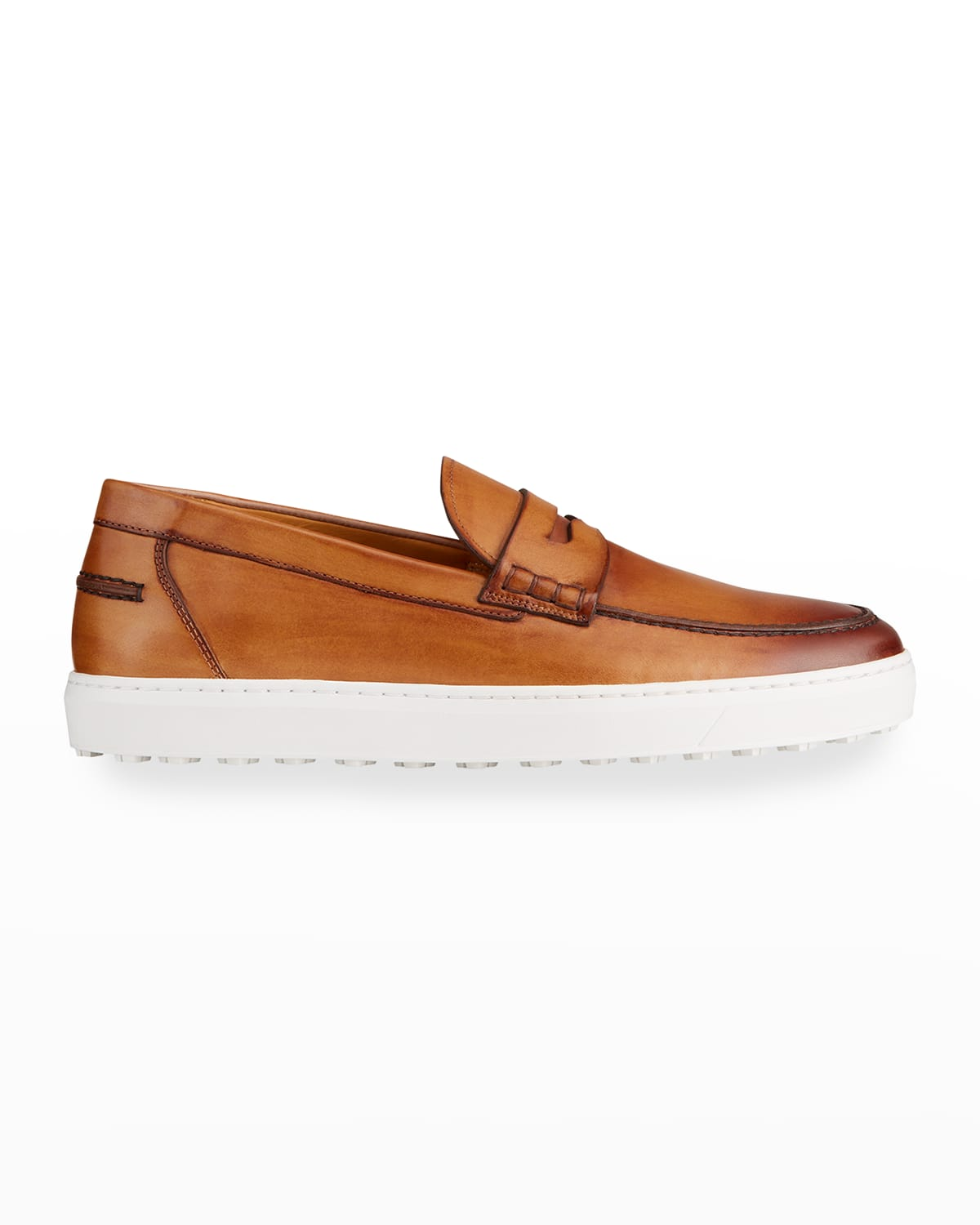 Men's Calf Leather Penny Slip-Ons