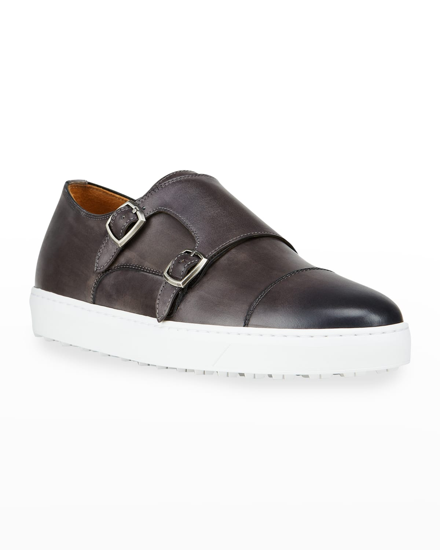 Men's Double-Monk Slip-On Sneakers