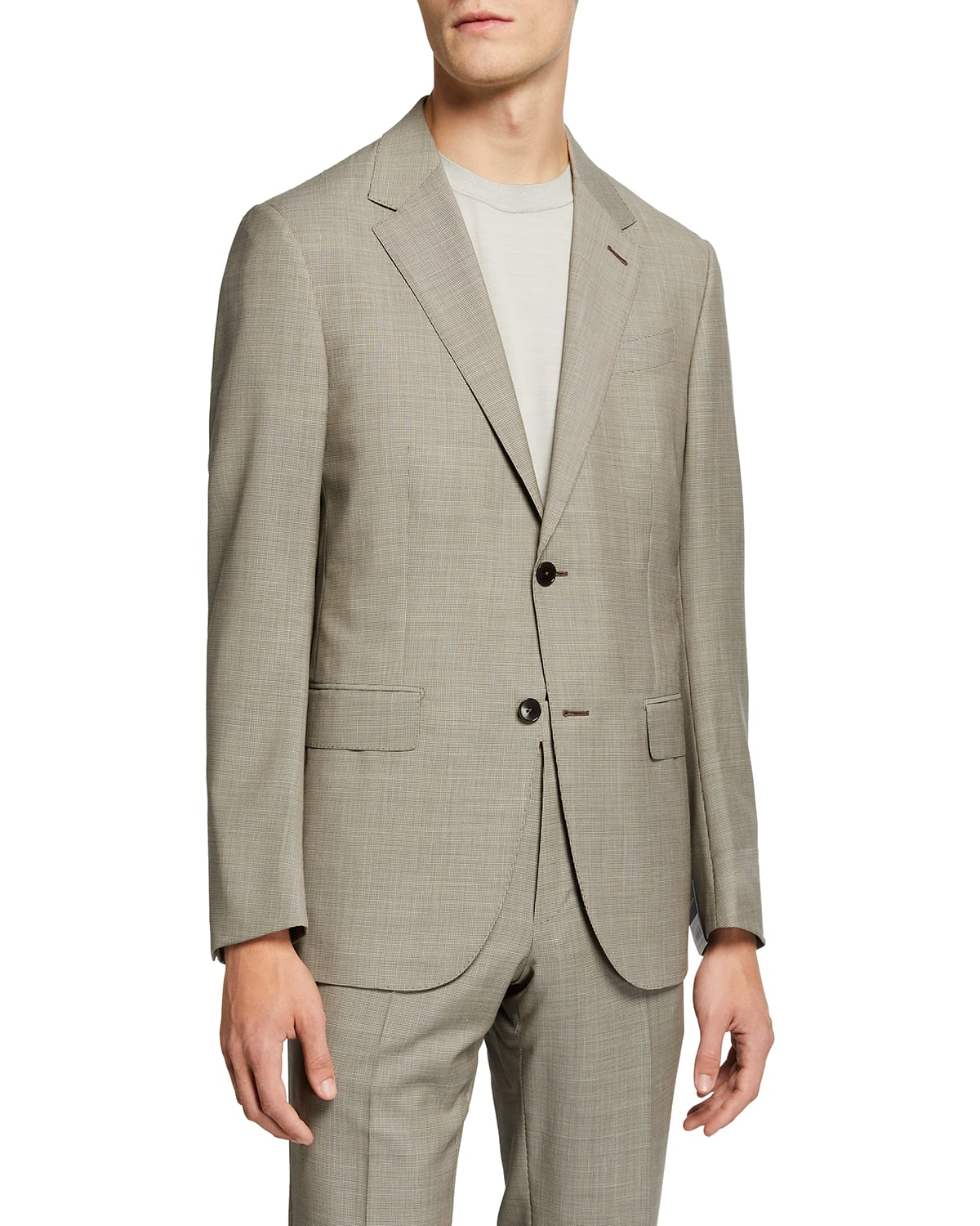 Men's Wool-Blend Houndstooth Check Two-Piece Suit