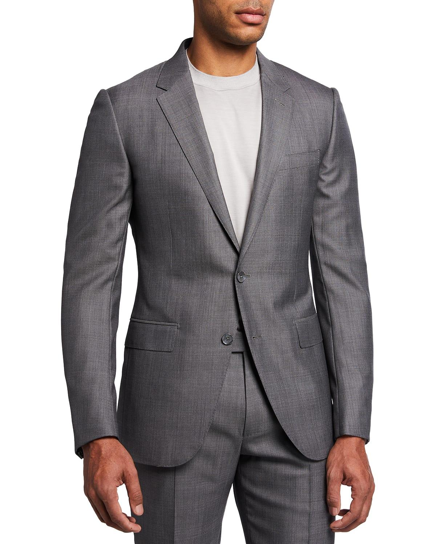 Men's Wool-Silk Tic City Suit