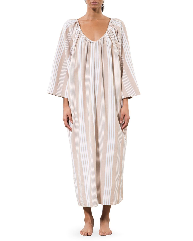 Luz Burch Striped Coverup Dress w/ Belt
