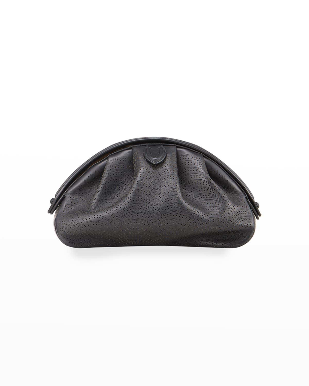 Samia 26 Laser-Cut Leather Clutch Bag