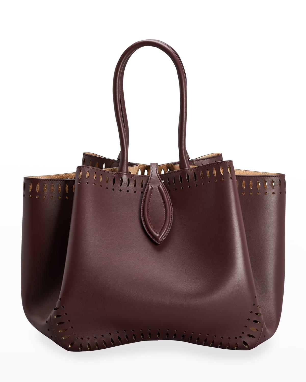 Angele 25 Calf Leather Top-Handle Bag
