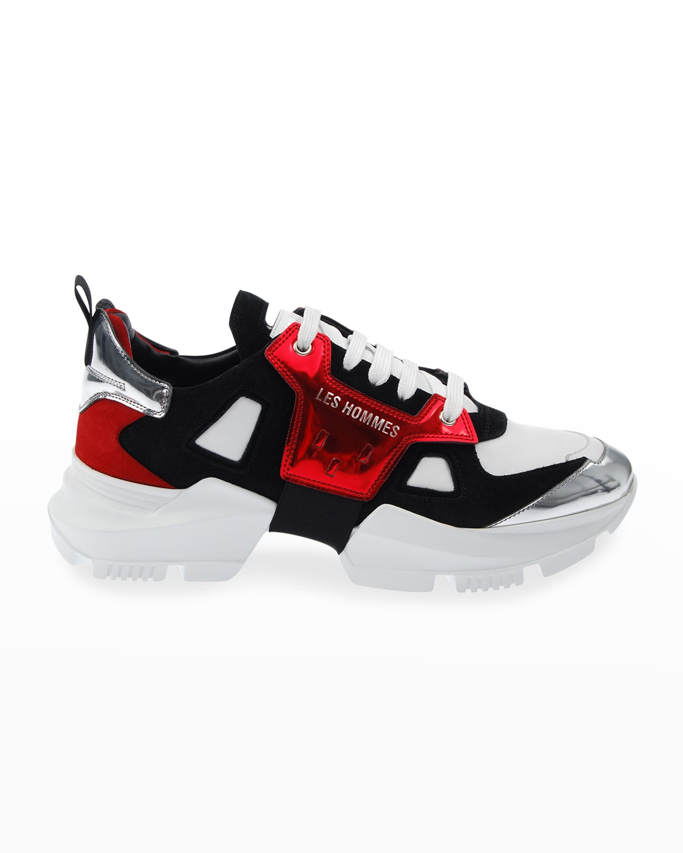 Men's Metallic Chunky Low-Top Sneakers