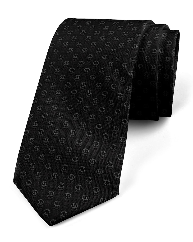 Men's Black Widow Silk Tie