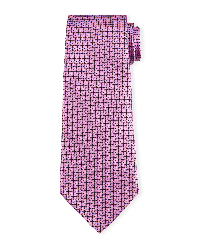 Men's Micro-Pattern Silk Tie