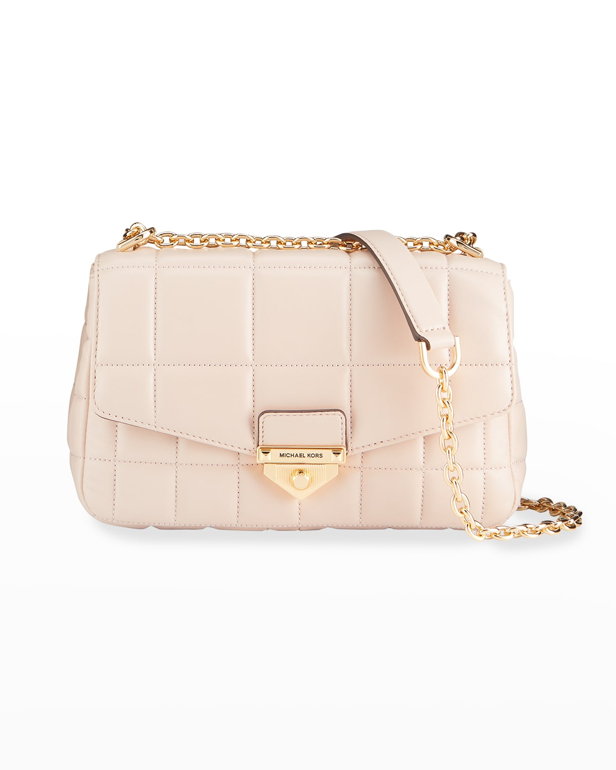 Soho Large Quilted Leather Chain Shoulder Bag