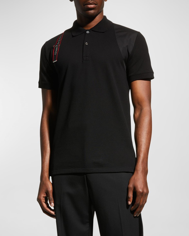 Men's Logo-Tape Harness Polo Shirt