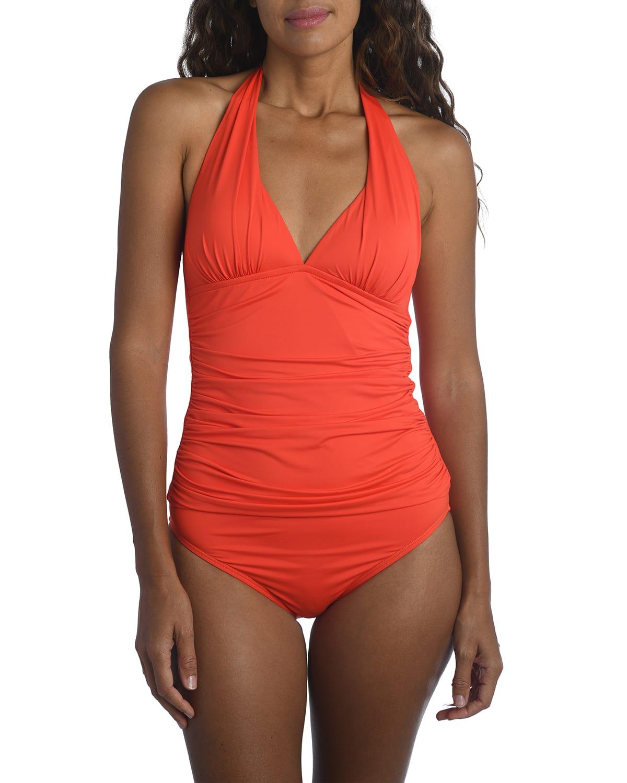 Island Goddess Halter Tankini Swim Top