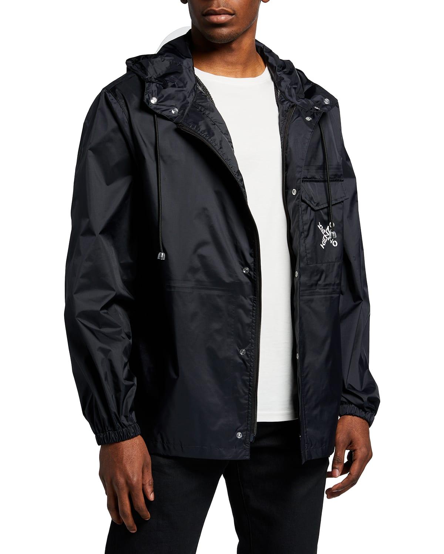 Men's Sport Typographic Wind-Resistant Jacket