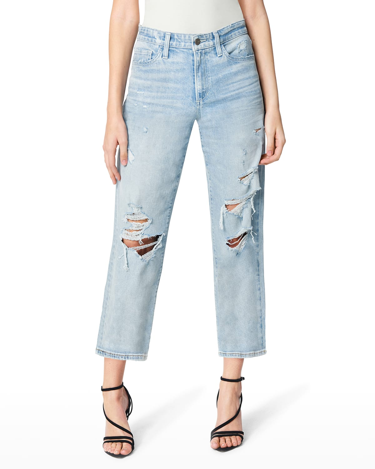 The Scout Distressed Cropped Boyfriend Jeans