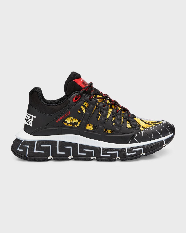 Men's Trigreca Barocco-Print Trainer Low-Top Sneakers
