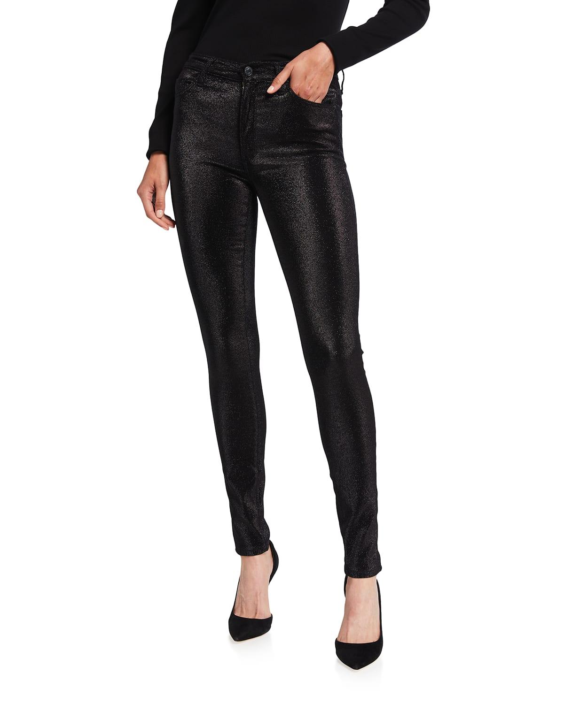 Gisele High-Rise Metallic Skinny Jeans
