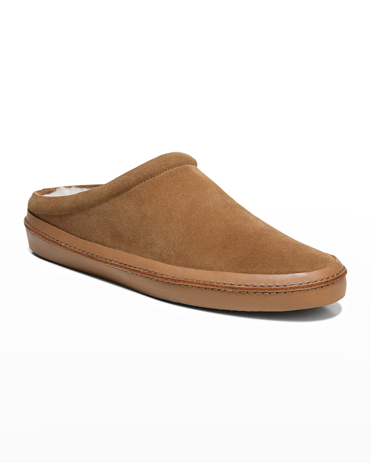 Men's Porter Suede Shearling-Lined Slippers