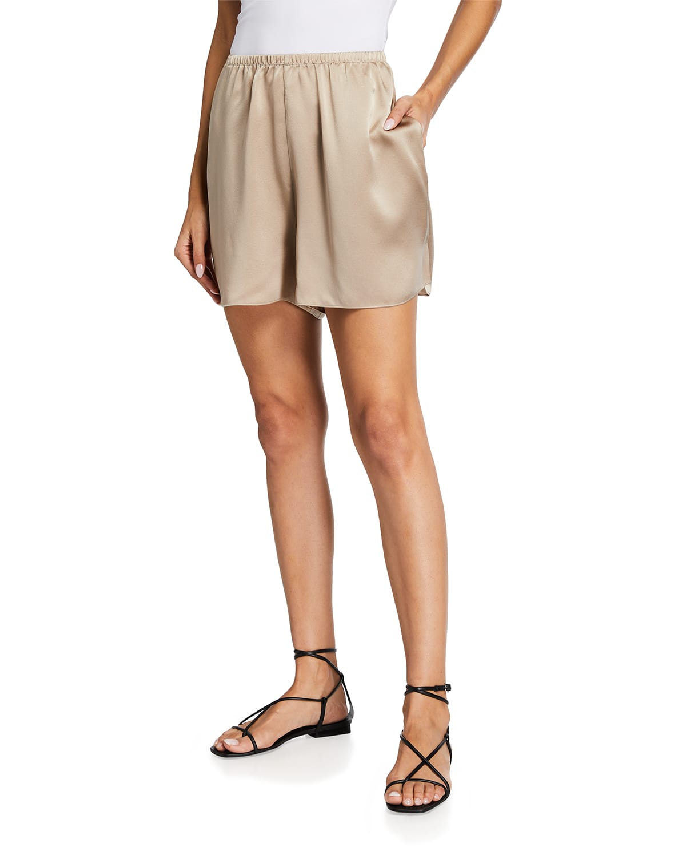 Satin Pull-On Shorts