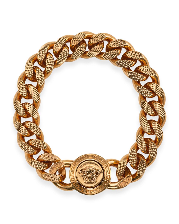 Men's Medusa Curb Chain Bracelet